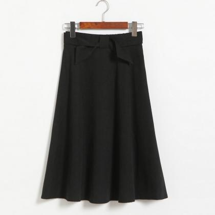 Womens High Waist Solid Elegant Bow..