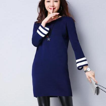 Big Size Women Round Neck Sweater D..