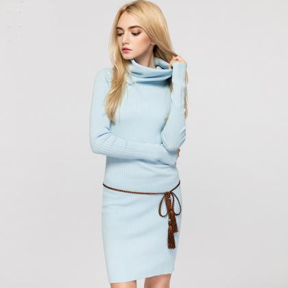 Stylish Knitted Long Sleeve Bodycon..