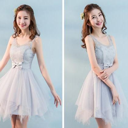 New Mini Bow Sleeveless Bridesmaid ..