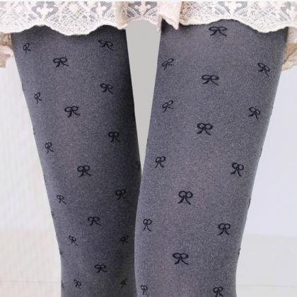 Sweet Bow Pantyhose Stockings For W..