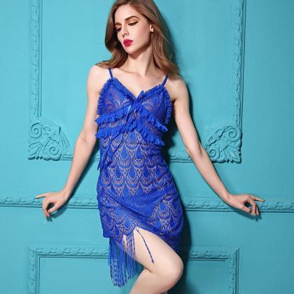 Women Sexy Blue Lingerie Sexy Sleep..