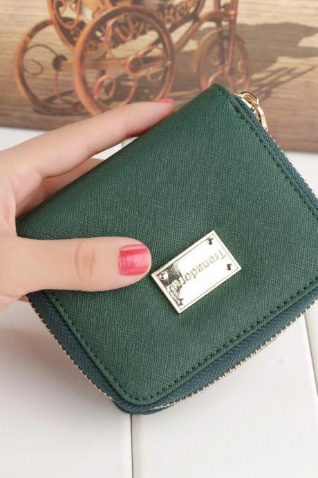 Women Zipper Wallet Card Holder Coin Pocket Girl Purse
