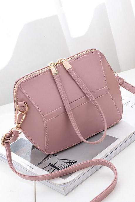 Women mini shoulder bag fashion female messenger bag mini crossbody Bags - Pink