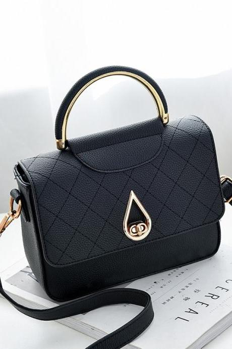 Women Shoulder Mini Bag New Leather Fashion Small Handbag - Black