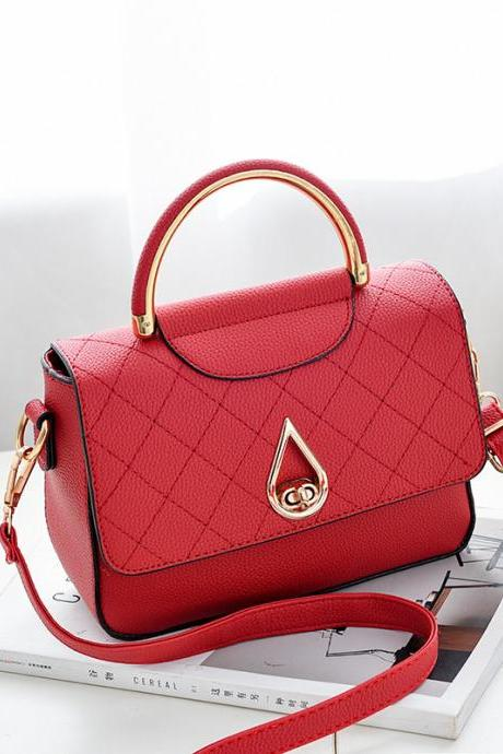 Women Shoulder Mini Bag New Leather Fashion Small Handbag - Red
