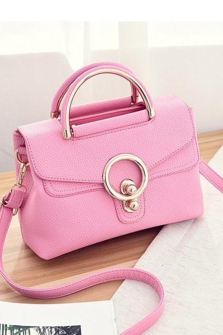 New Fashion Mini Women Bags Ladies Crossbody Shoulder Messenger Bags - Pink