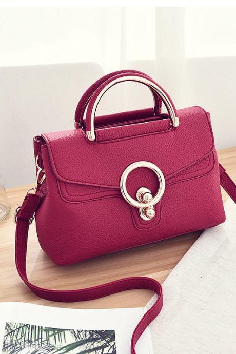 New Fashion Mini Women Bags Ladies Crossbody Shoulder Messenger Bags - Red