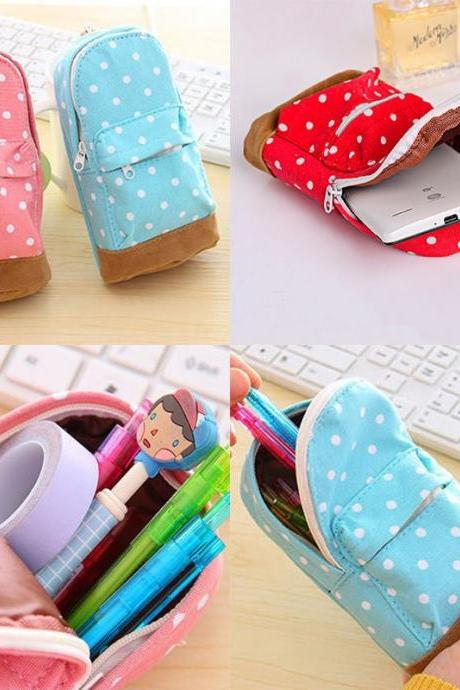 Mini School bag Pen Case Canvas Pencil Case Children Pen Bag For Students