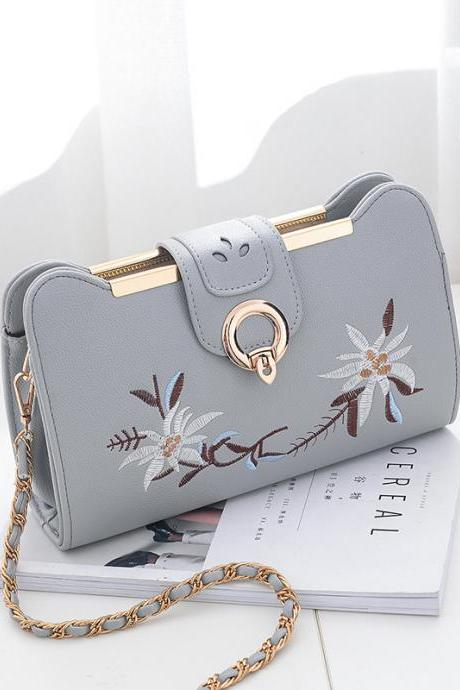 Women Bags Designer Fashion Sweet Women Evening Bag Party Purse Women Clutch Tote Women Shoulder Messenger Bags - Grey