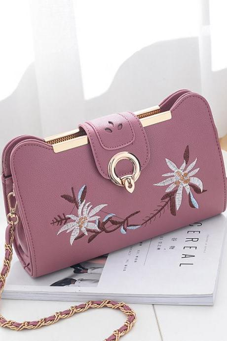 Women Bags Designer Fashion Sweet Women Evening Bag Party Purse Women Clutch Tote Women Shoulder Messenger Bags - Pink