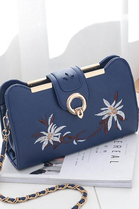Women Bags Designer Fashion Sweet Women Evening Bag Party Purse Women Clutch Tote Women Shoulder Messenger Bags - Blue