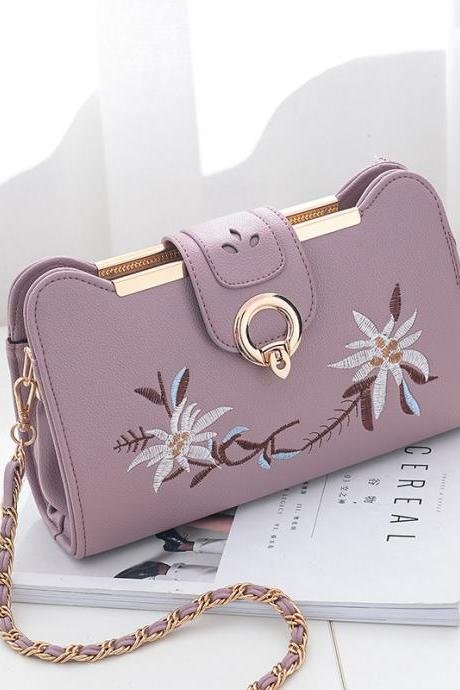 Women Bags Designer Fashion Sweet Women Evening Bag Party Purse Women Clutch Tote Women Shoulder Messenger Bags - Purple