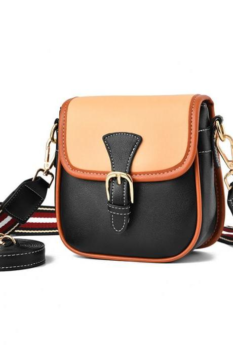 Fashion Women Mini Pu Leather Shoulder Bag - Black