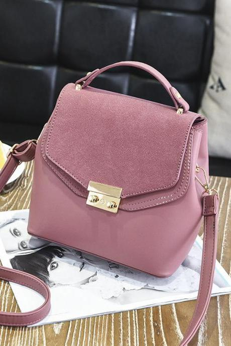 Hot Sale New Design Women Leather Small Bag Shoulder Messenger Mini Handbag - Pink