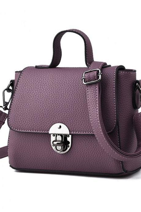 New Women Messenger Shoulder Mini Bag - Dark Purple