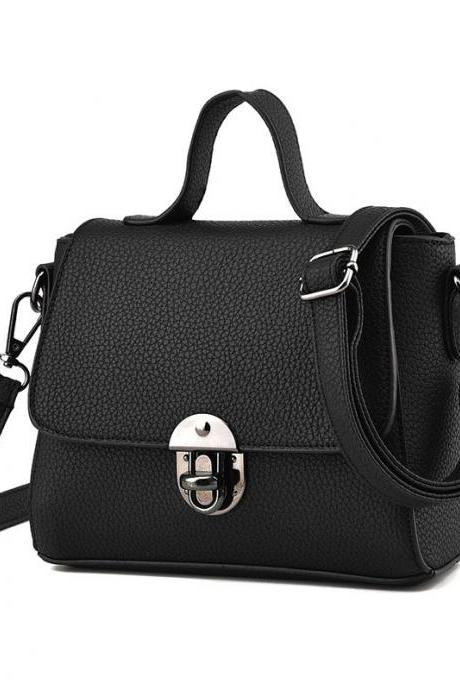 New Women Messenger Shoulder Mini Bag - Black
