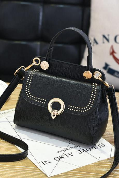 Fashion Mini Women Handbag for Girls Women's Shoulder Bag Crossbody Women Chain Bag - Black