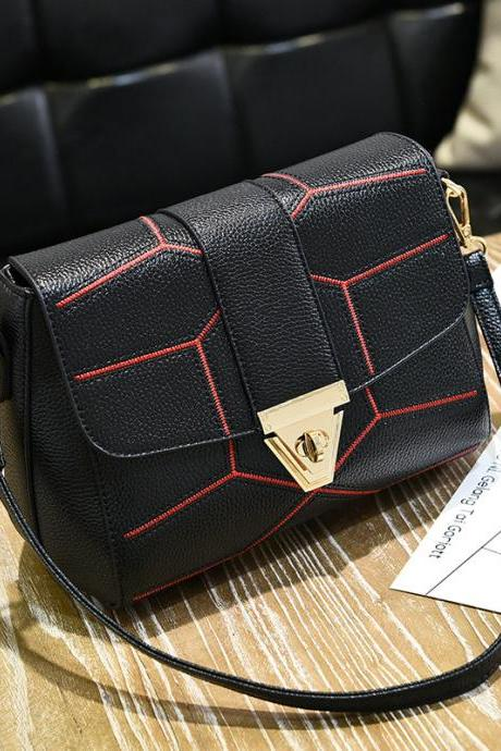 New Female Bag Crossbody Bag Fashion Shoulder Handbag - Black