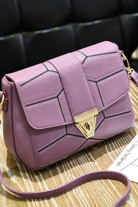New Female Bag Crossbody Bag Fashion Shoulder Handbag - Purple