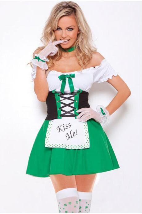 Sexy Women Maid Halloween Dress Cosplay Dress Stage Costumes Sexy Costumes