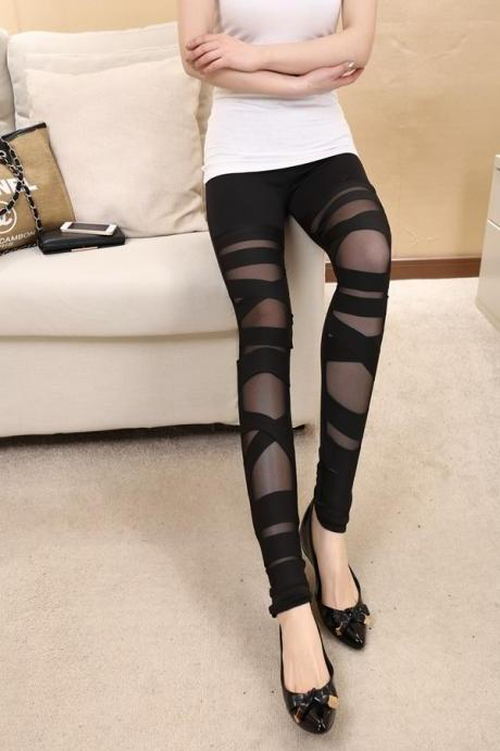 Women Sexy Casual Slim Leggings - Black