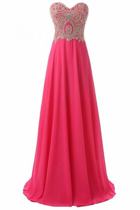 Elegant Evening Dress Long Beading Prom Dress Formal Party Gown