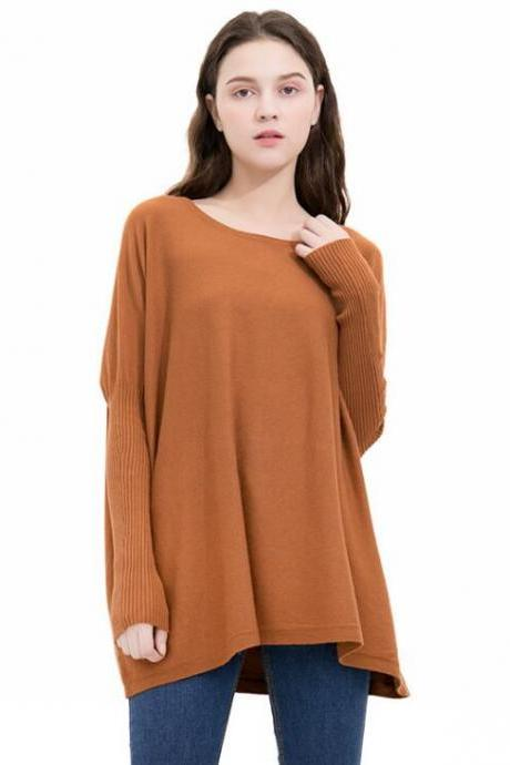 Knit Bateau Neck Long Sleeves Sweater