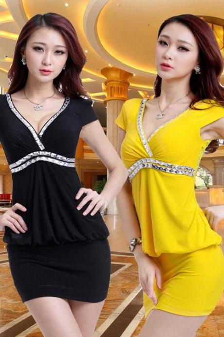 Women Sexy Summer Party Dress 4 Colors