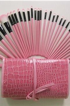 New Crocodile Pattern Professional 32 pcs Makeup Brushes Set