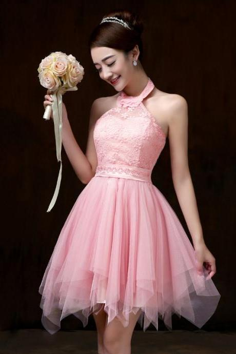 Halter Neck Dress evening party Prom dress Bridesmaid Wedding Dress