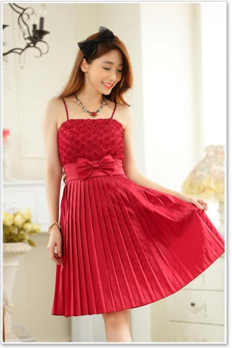 Hot Sale High Quality Summer New Fashion Women Elegant Bow Evening Formal Party Dress