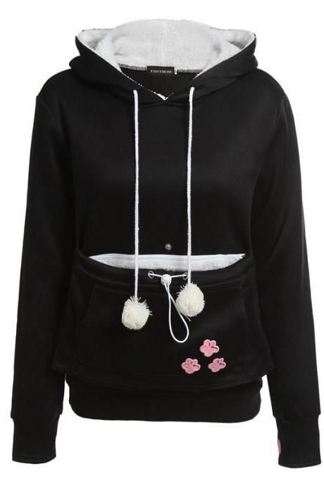 New Fshion Cute Hoodies - Black