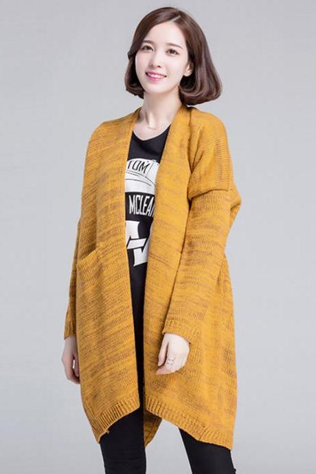 Fashion Women Loose Thin Long Cardigan Sweater Coat