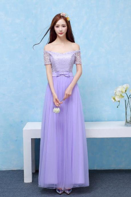 Bridesmaid Dresses Long Prom New Style Fashion Women Wedding Party Dress - Purple