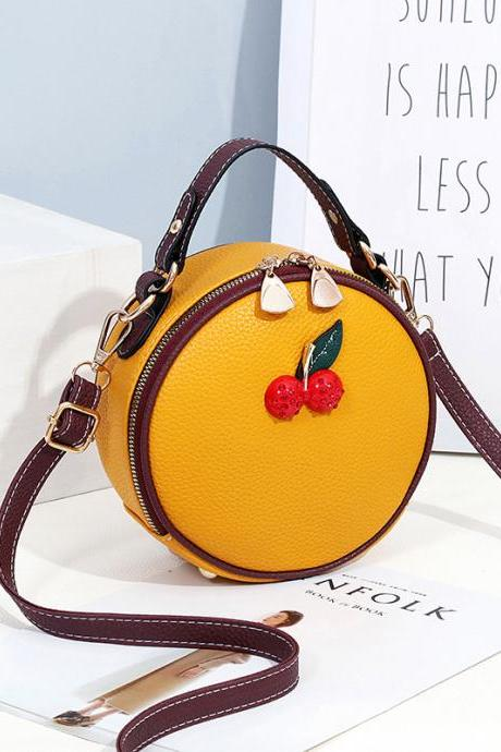 Fashion Cute Women One Shoulder Bag - Yellow