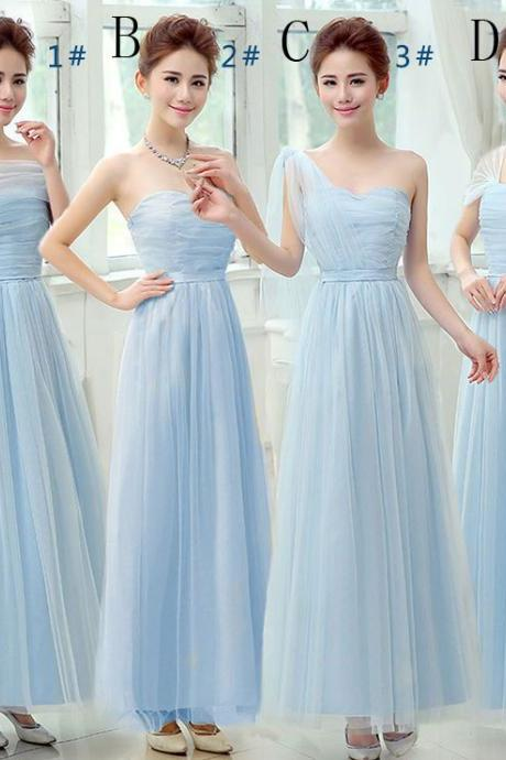 Beautiful Long Evening Dresses Bridesmaid Dresses - Blue