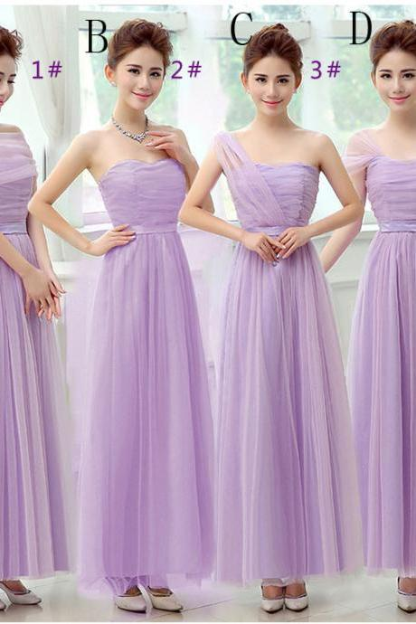 Beautiful Long Evening Dresses Bridesmaid Dresses - Purple