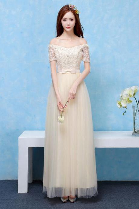 Bridesmaid Dresses Long Prom New Style Fashion Women Wedding Party Dress - Champagne