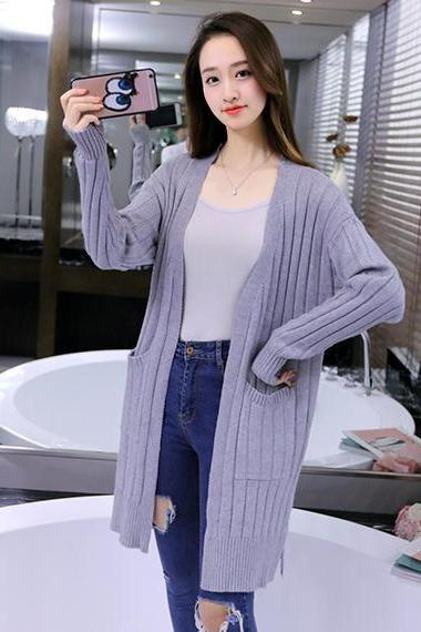 Women Long Cardigan Coat Outwear