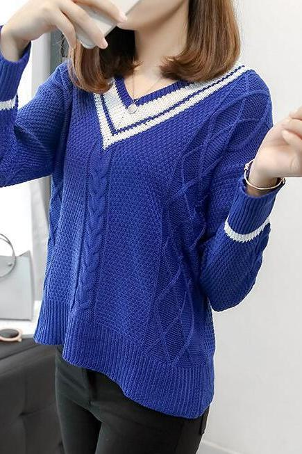 New Stripe Sweater For Women 3 Colors