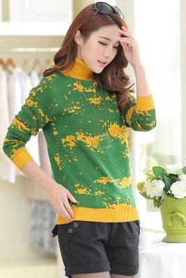 New Fashion Women Slim Pullover Knitted Sweater Casual Top Sweaters
