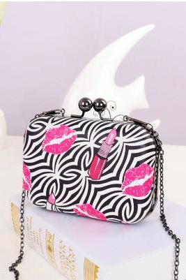 Sweet Evening Clutch Party Fashion Chain Mini Lingge Bags Clutch Handbag