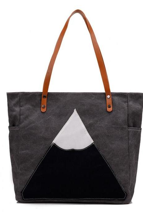 Fashion Women Casual Shoulder Bag Shopping Bag Handbag - Grey