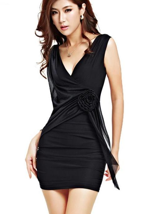 Lady Sexy Slim Mini Dress Sexy Fitted Club Mini Dress