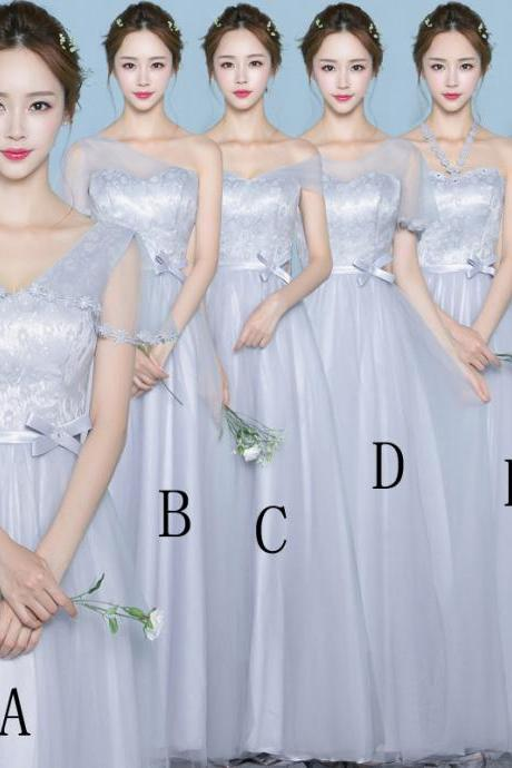 Special Occasion Dresses Gauze Bridesmaid Dress Long Wedding Party Dress