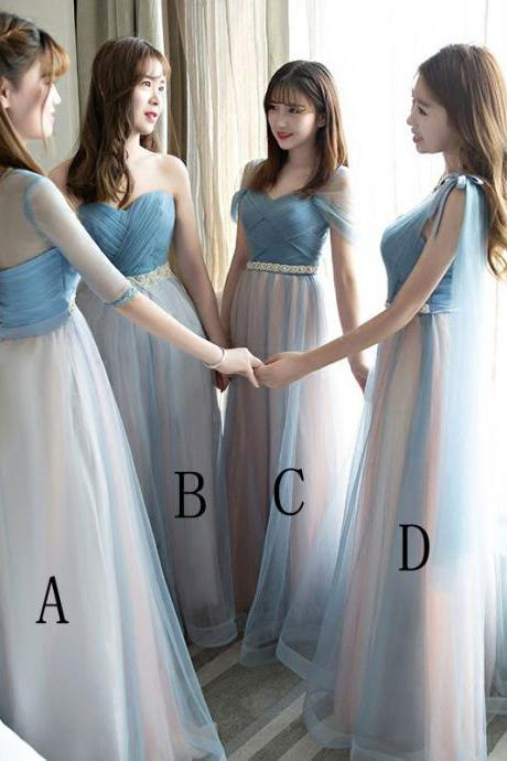 Beautiful Women Bridesmaid Wedding Party Long Dress 4 Style