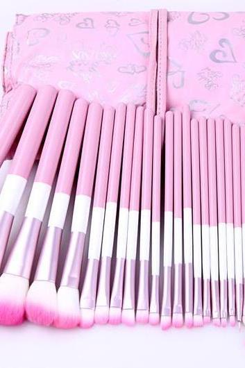 Professional 24 pcs Makeup Brushes Set Eyebrow Shadow Make Up Brush Set Kit