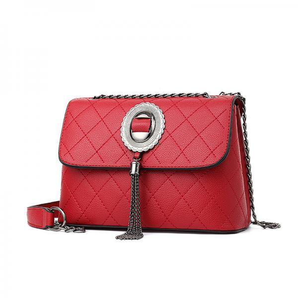 Women Elegant Handbag Shoulder Bag Tote Messenger Bag - Red