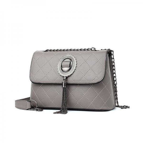 Women Elegant Handbag Shoulder Bag Tote Messenger Bag - Grey